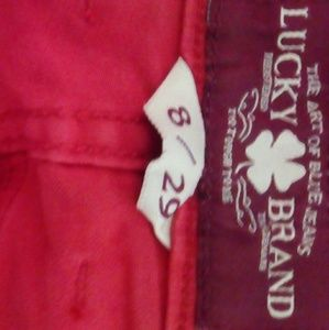 Lucky Brand red jeans